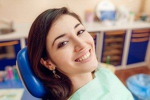 Woman patient at dentist consultation